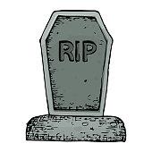 Halloween grave illustration