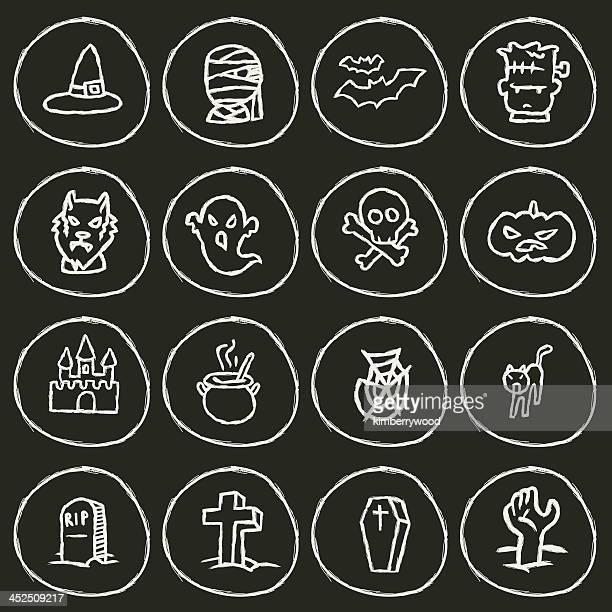 halloween icon - grave stock illustrations, clip art, cartoons, & icons
