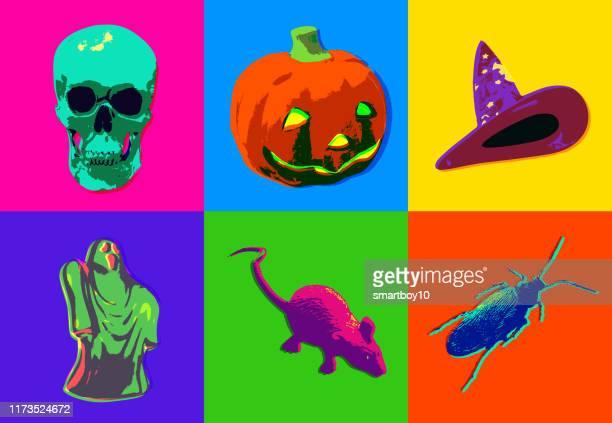ilustrações de stock, clip art, desenhos animados e ícones de halloween icons - centopeia