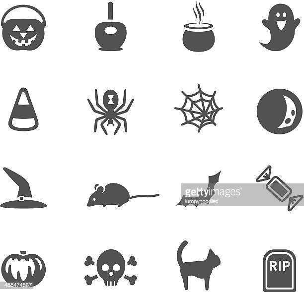 halloween icons - spider stock illustrations