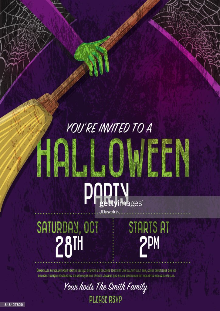 Halloween Invitation template design