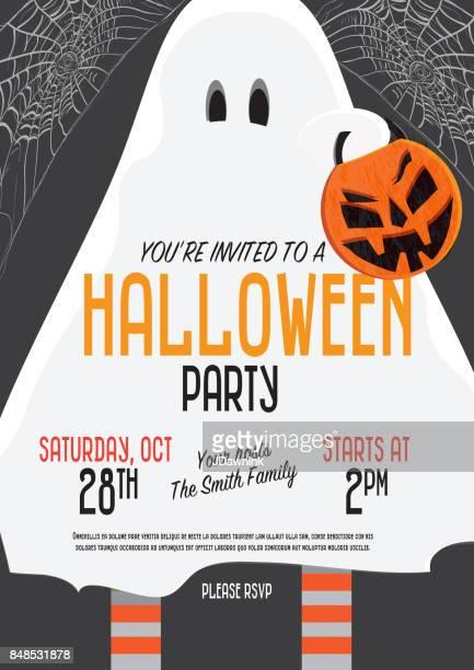 Halloween Invitation template design