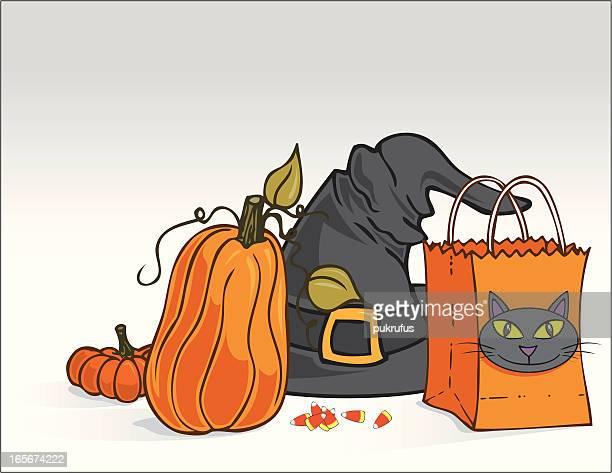illustrations, cliparts, dessins animés et icônes de halloween des éléments - chat noir