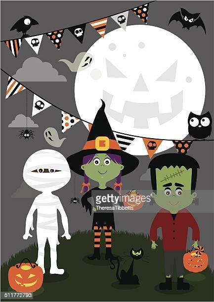 ilustraciones, imágenes clip art, dibujos animados e iconos de stock de halloween los niños - torre pieza de ajedrez
