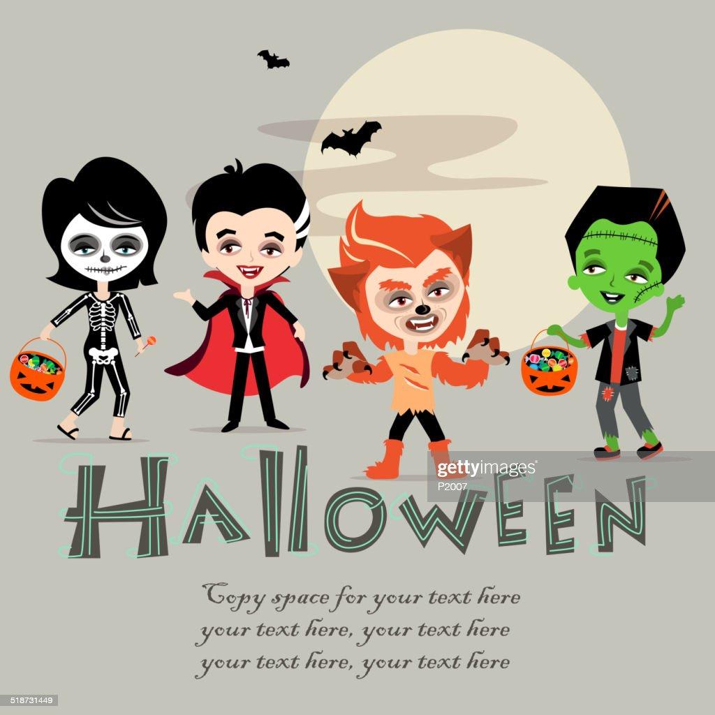 Halloween Kids : stock illustration
