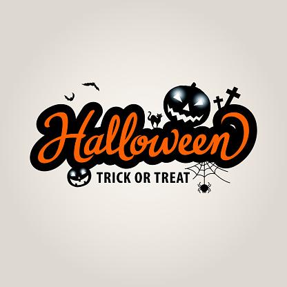 Halloween Lettering with pumpkins - gettyimageskorea