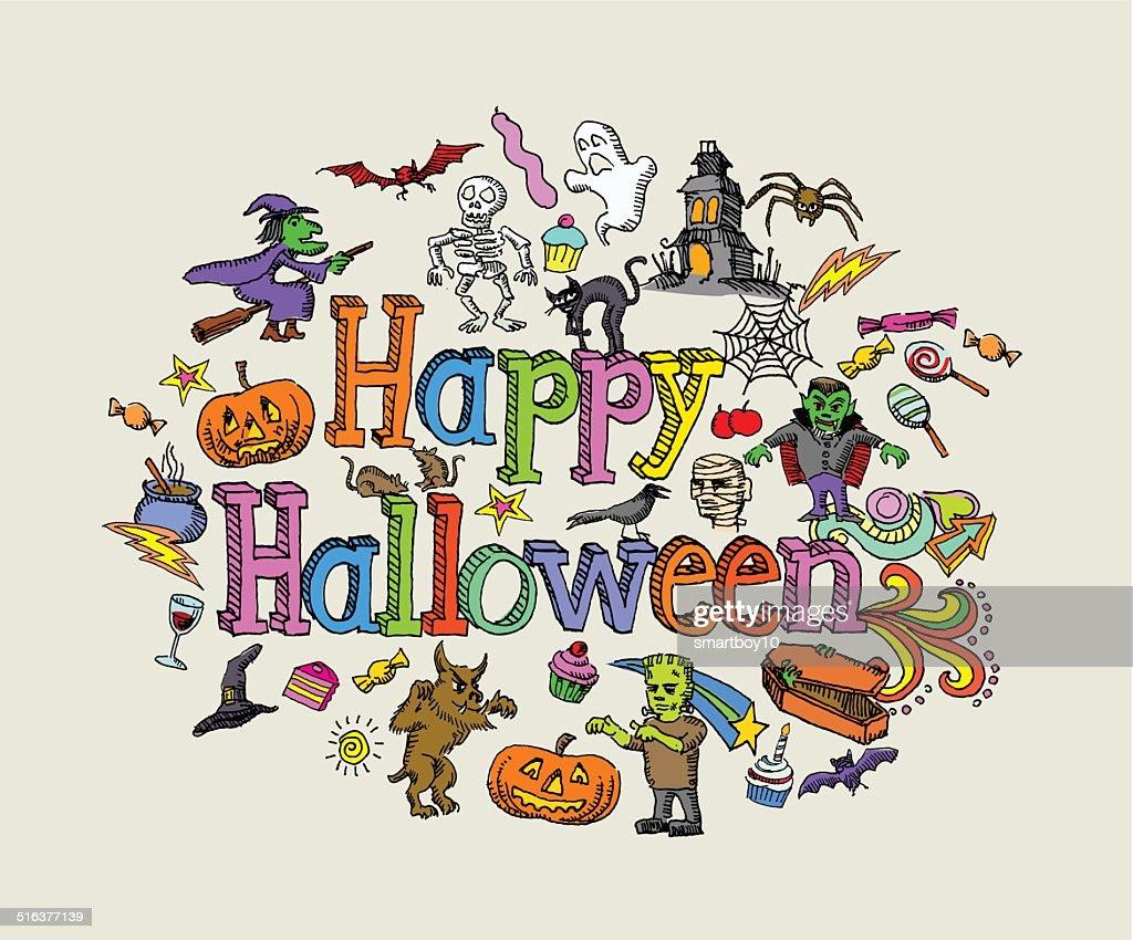 halloween message vector art | getty images