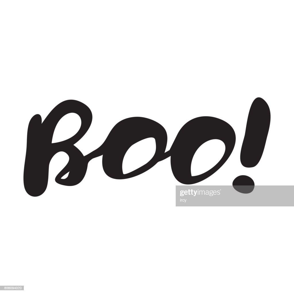 Halloween modern typographic
