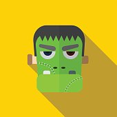Halloween monster flat icon illustration