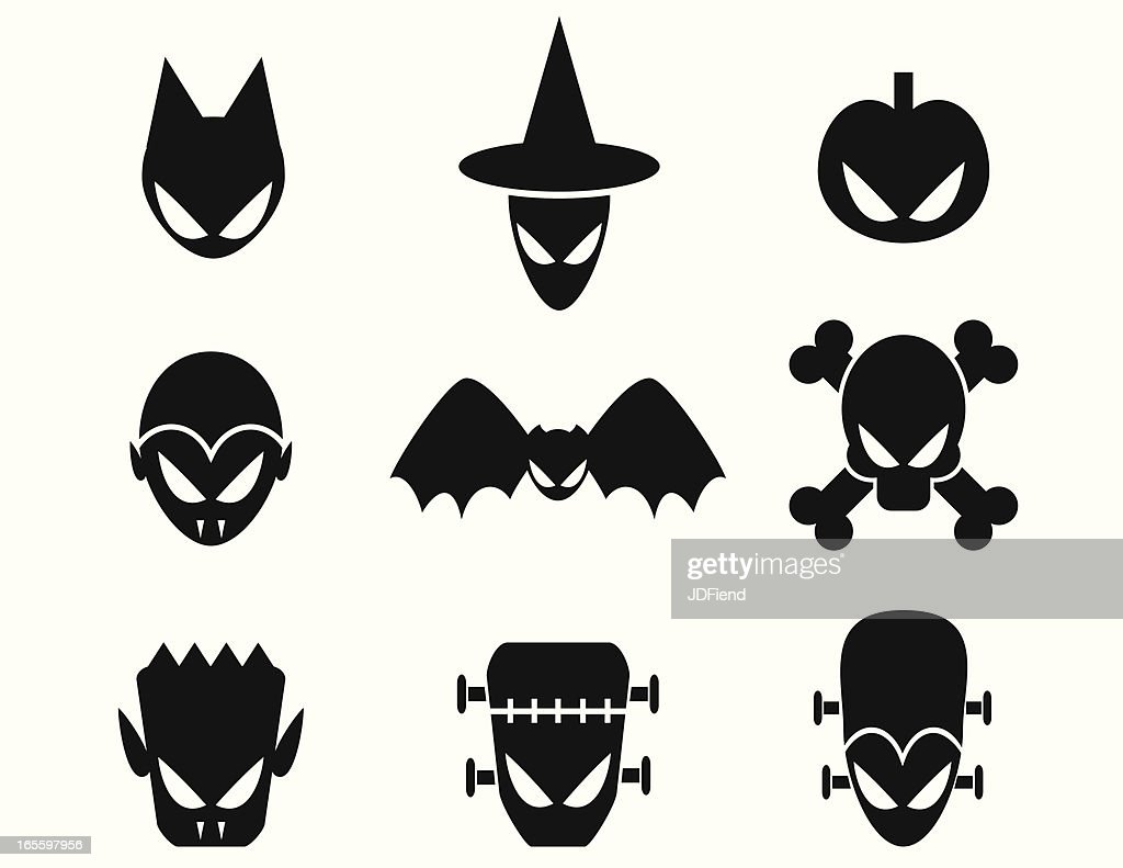 Halloween Monster Icons High Res Vector Graphic Getty Images
