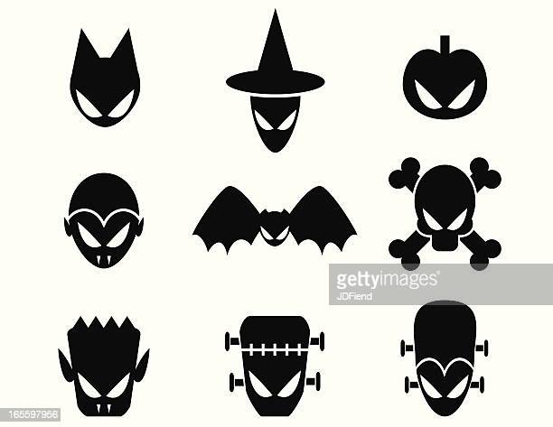 halloween monster icons - count dracula stock illustrations, clip art, cartoons, & icons