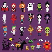Halloween Monsters Mash Characters