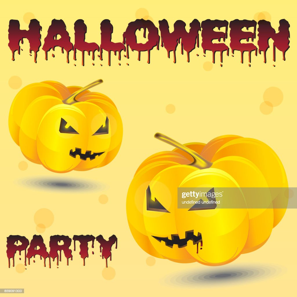 Halloween Night Background With Pumpkin Flyer Or Invitation Template For Party Vector Art