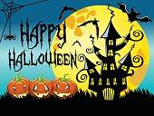 Halloween night horizontal background
