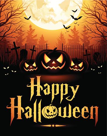 Halloween Night with Pumpkins - gettyimageskorea