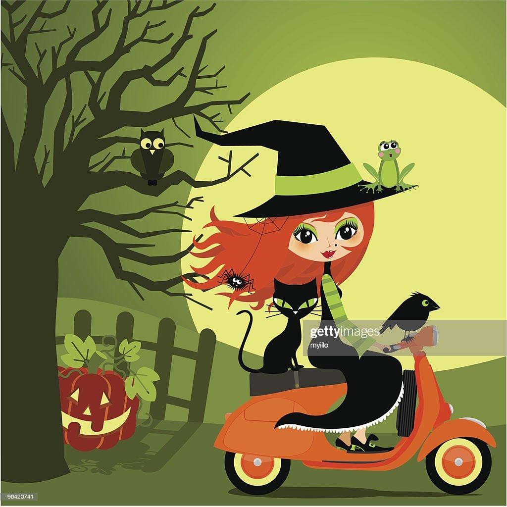 Halloween on vespa