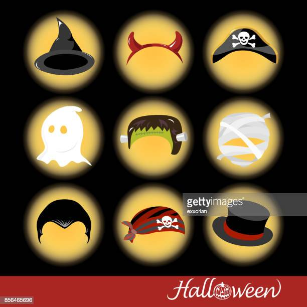 halloween party hats - updo stock illustrations, clip art, cartoons, & icons