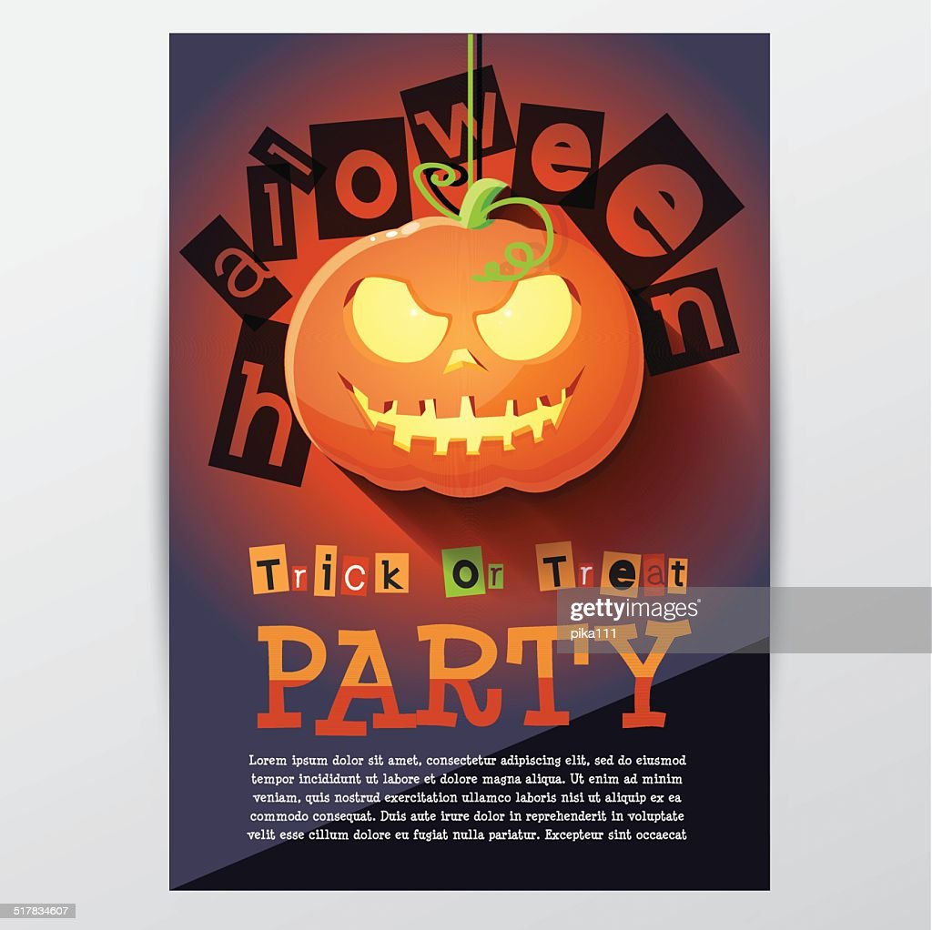 halloween party invitation poster template vector art getty images