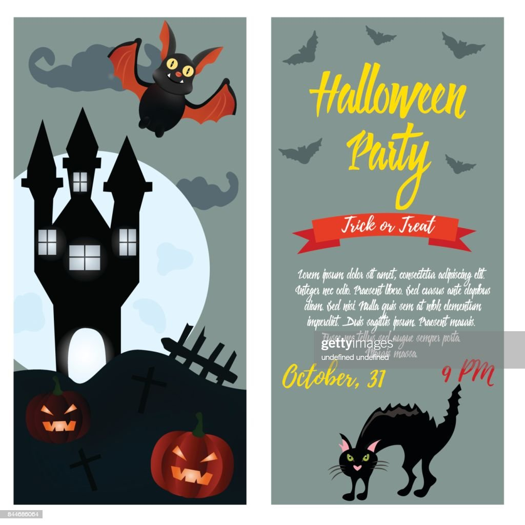 Pompoen Halloween Sjabloon.Uitnodiging Voor Halloweenfeest Sjabloon Halloween