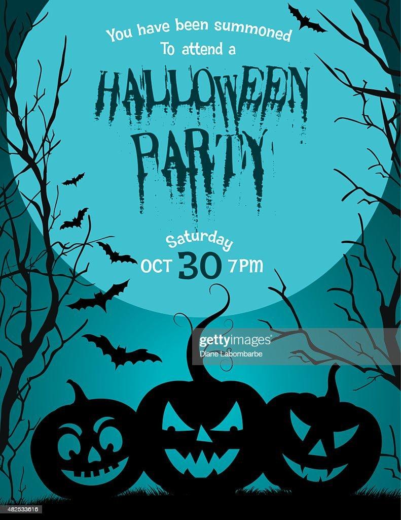 Halloween party invitation template vector art getty images halloween party invitation template vector art stopboris Choice Image