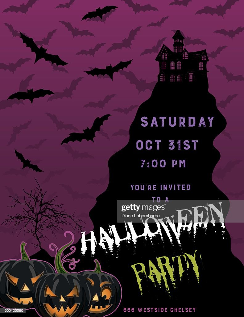 Halloween party invitation template vector art getty images halloween party invitation template vector art maxwellsz