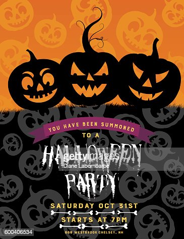 Halloween party invitation template vector art getty images keywords stopboris Images