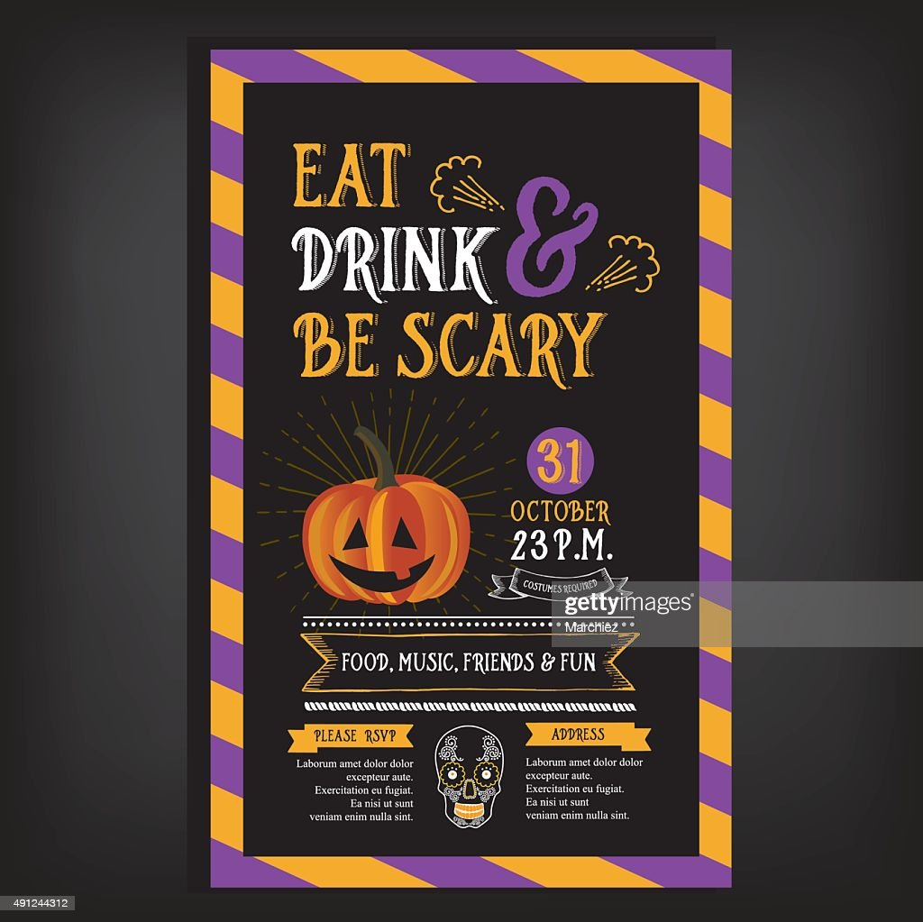 Halloween party invitation.