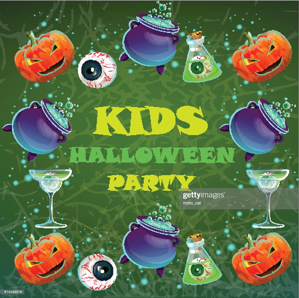 Halloween party poster. banner, flyer,Vector illustration