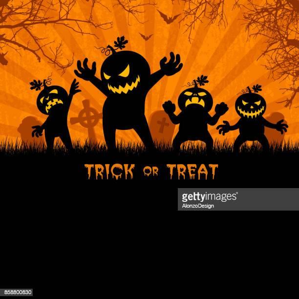 halloween party poster - jack o lantern stock illustrations, clip art, cartoons, & icons