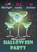 Halloween party poster.banner, flyer,Vector illustration