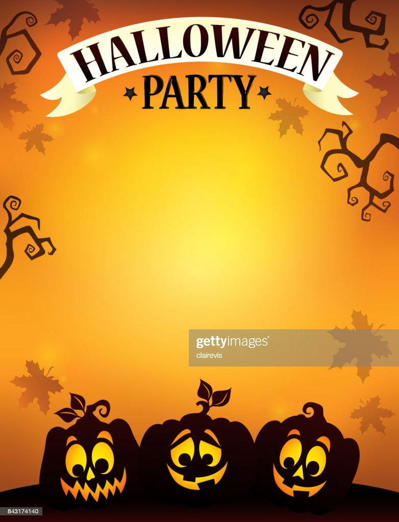 Halloween party sign theme image 9