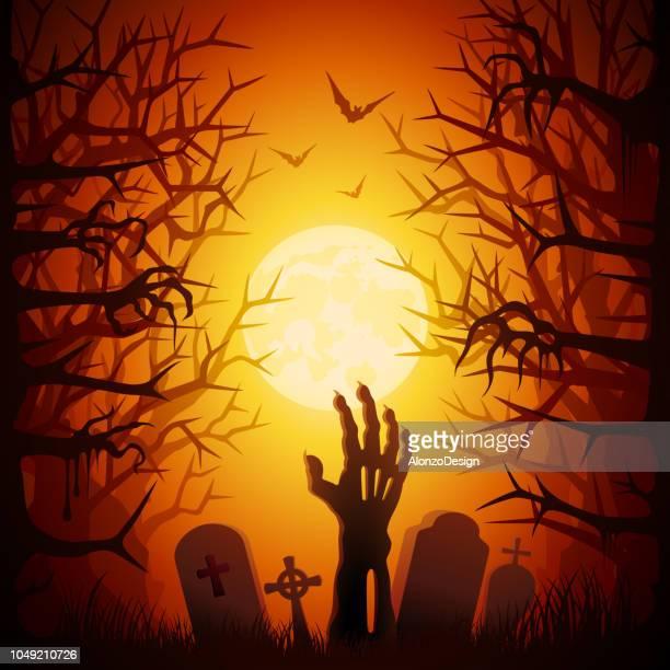halloween party - zombie stock illustrations, clip art, cartoons, & icons