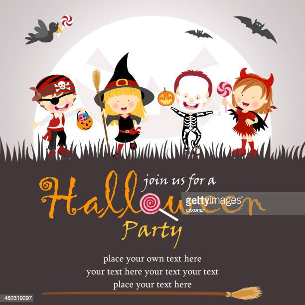 halloween party - traditional clothing stock illustrations