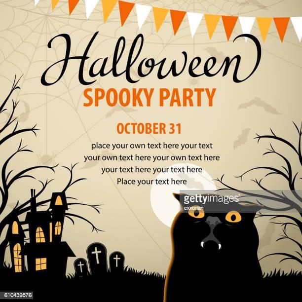 Halloween Party with Vampire Cat