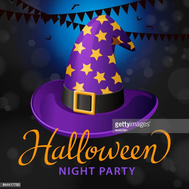 Halloween Party with Witch Hat