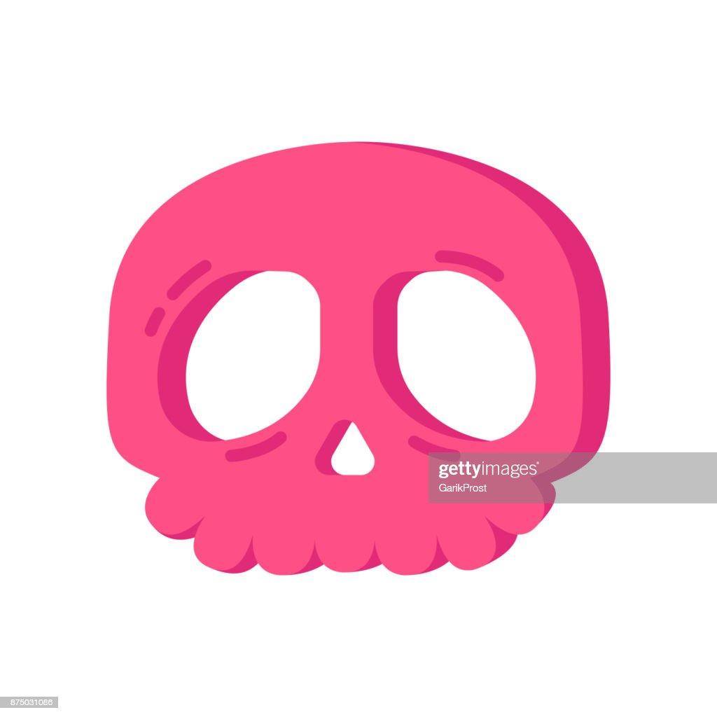 Halloween pink skull cookie