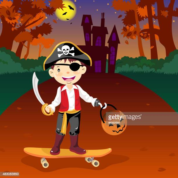 Halloween disfraz de pirata