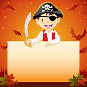 Halloween pirate notice