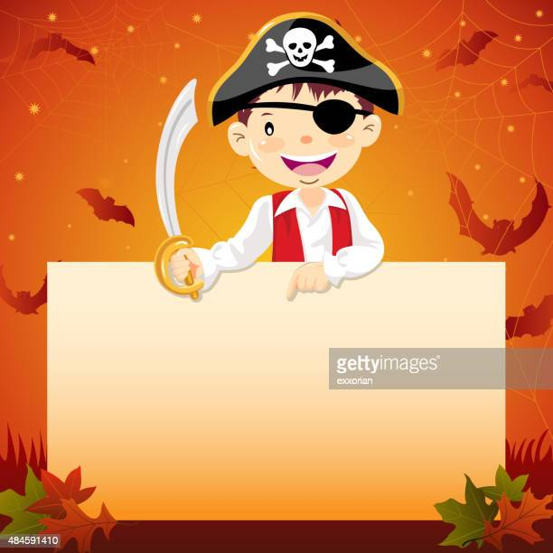 Halloween pirate notice