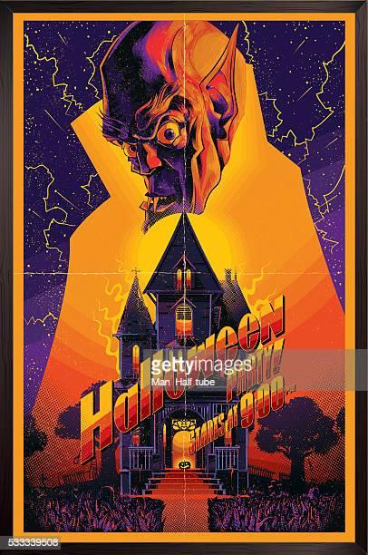 halloween poster - vampire stock illustrations, clip art, cartoons, & icons