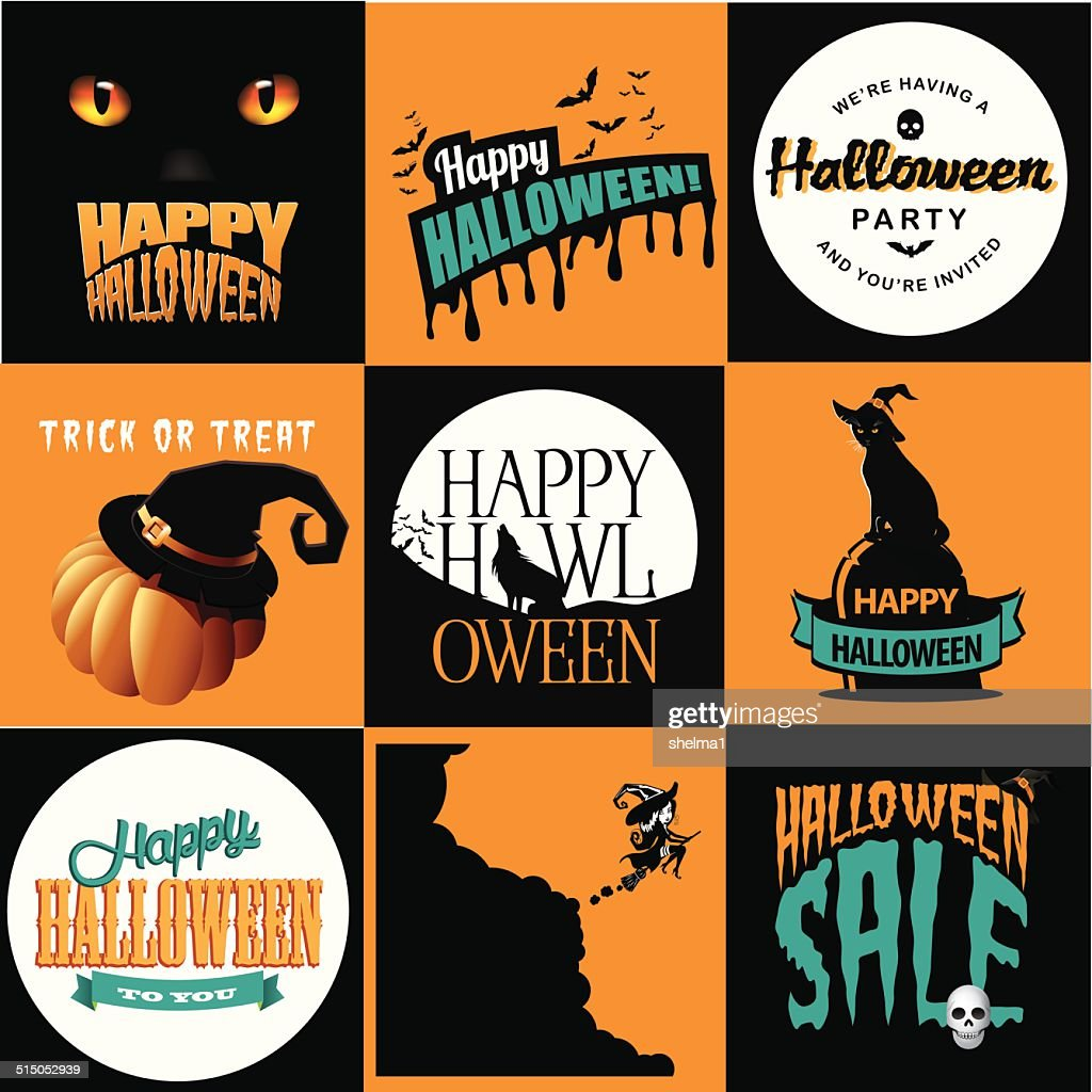 Halloween posters collection