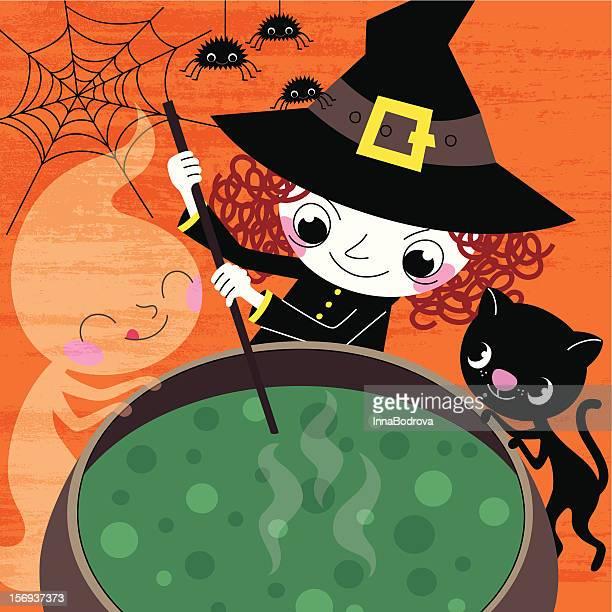 halloween potion - halloween cats stock illustrations