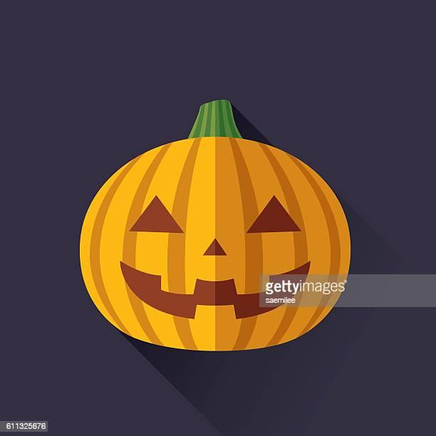 halloween pumpkin flat - jack o lantern stock illustrations, clip art, cartoons, & icons