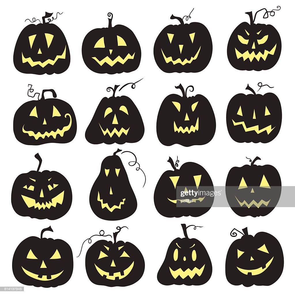 Halloween pumpkin set.