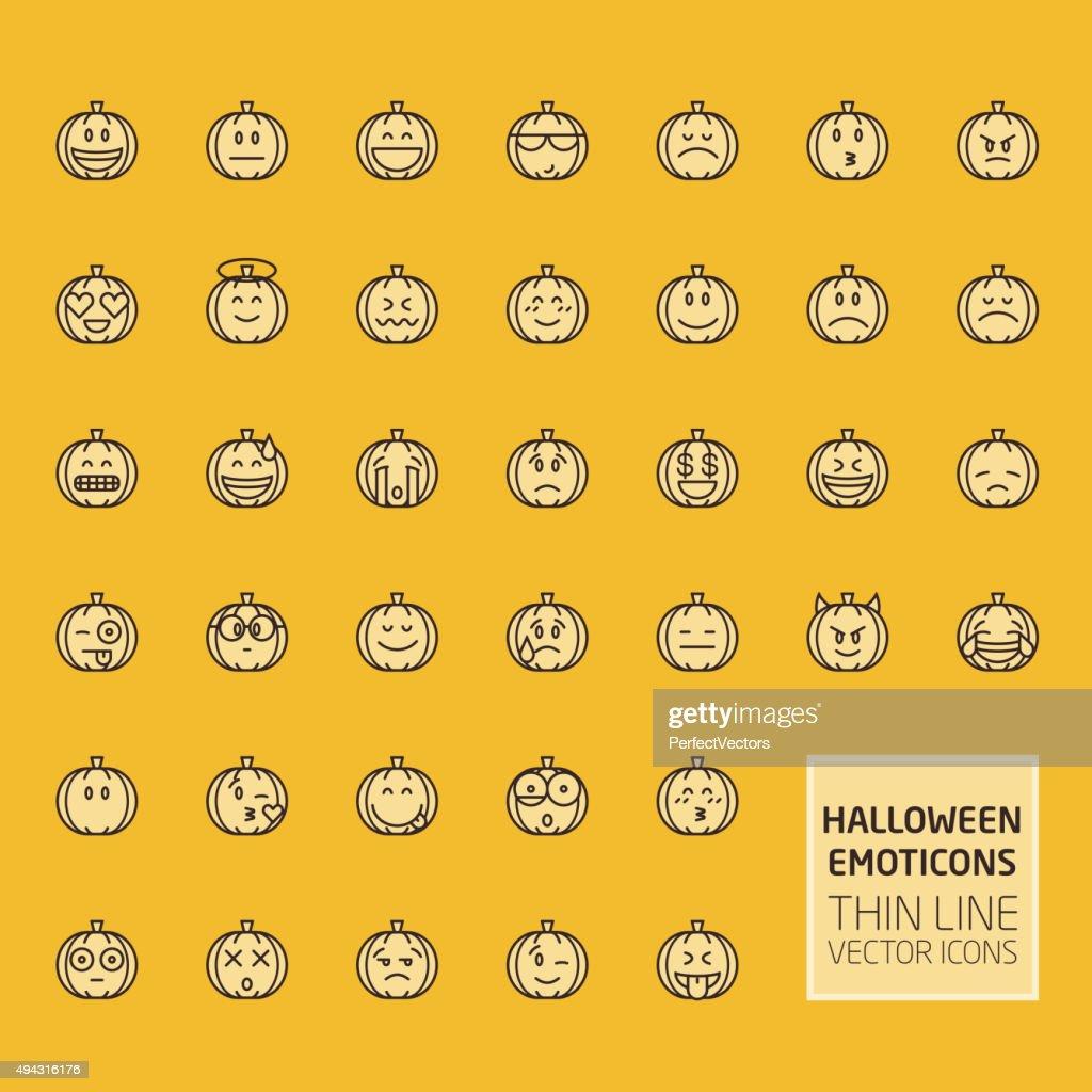 Halloween Pumpkin Smiles Set
