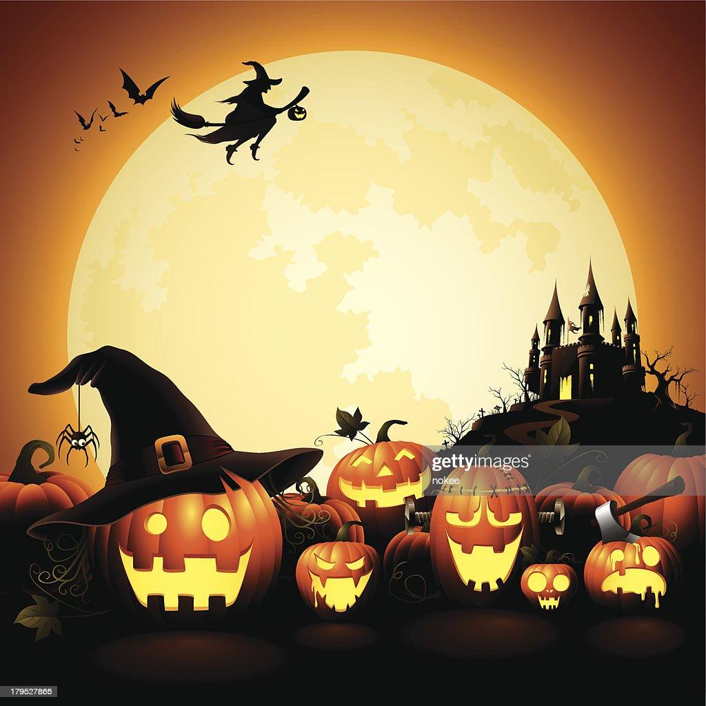 Halloween Pumpkins - Haunted Castle : stock illustration
