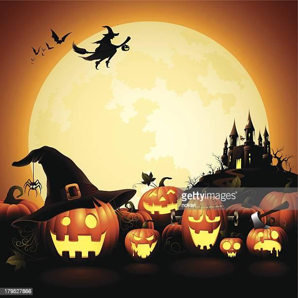 Halloween Pumpkins - Haunted Castle