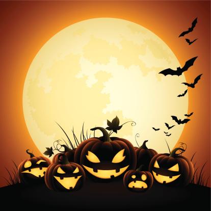Halloween Pumpkins - Moonlight - gettyimageskorea