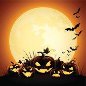 Halloween Pumpkins - Moonlight