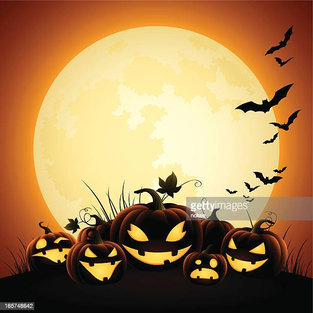 Halloween Pumpkins - Moonlight
